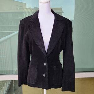 Maxima Neiman Marcus Suede Leather blazer size 8